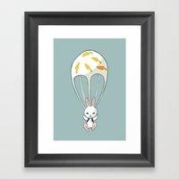 Parachute Bunny Framed Art Print