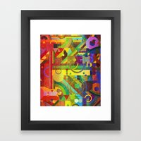 Future Patterns. Framed Art Print