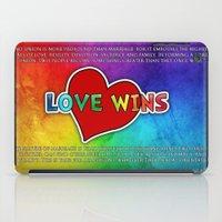 LOVE WINS iPad Case