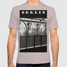 Jannowitzbruecke - Berlin - B&W Mens Fitted Tee Cinder SMALL