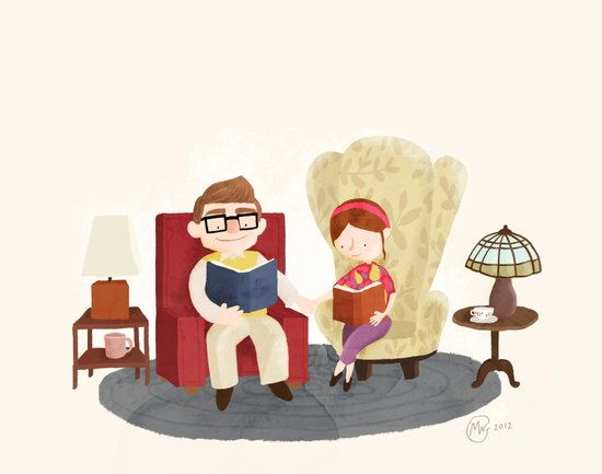 Carl and Ellie (from Pixar's 'Up') Art Print