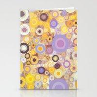 Purple Yellow Washing Ma… Stationery Cards