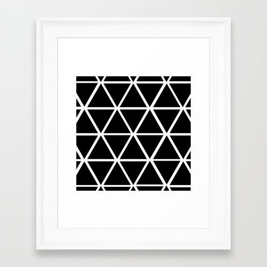 BLACK & WHITE TRIANGLES 2 Framed Art Print