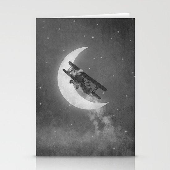 Night Flight  Stationery Card