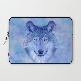 Laptop Sleeve - Colorful watercolor wolf - CatyArte