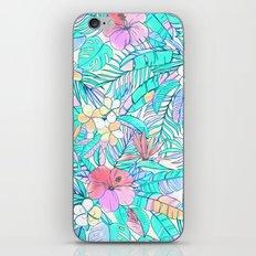 Pretty Pastel Hawaiian Hibiscus Print iPhone & iPod Skin