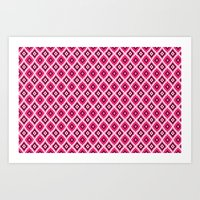 Morrocan Manor In Pink Art Print