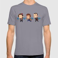 The Doctors! Mens Fitted Tee Slate SMALL