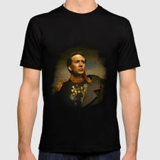 Nicolas Cage - replaceface Mens Fitted Tee Black SMALL