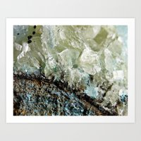 chrysocolla & calcite 2 Art Print