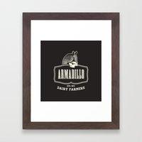Armadillo Dairy Farmers - Fantasy Vintage Logo Framed Art Print
