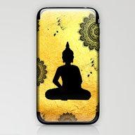iPhone & iPod Skin featuring Yogi And Mandalas by Haroulita