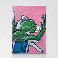 Flailing Pig Man by Amos Duggan Stationery Cards