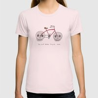 The Most Badass Bicycle … Womens Fitted Tee Light Pink SMALL