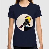 Coco Womens Fitted Tee Navy SMALL