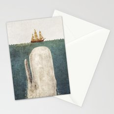 The Whale - vintage option Stationery Cards
