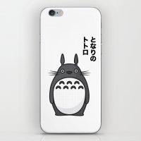 Totoro Pop Art - White Version iPhone & iPod Skin