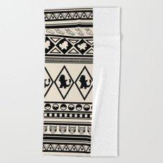 Poke Tribe (Natural) Beach Towel