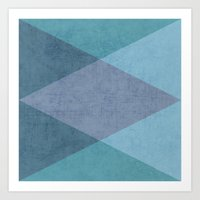 the blue triangles Art Print