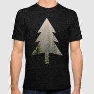 Mountain Haze Mens Fitted Tee Tri-Black SMALL