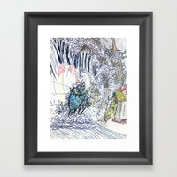 The Knight And The Drago… Framed Art Print