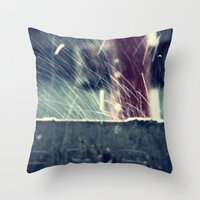 Rain Splash 2 Throw Pillow