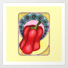 Art Nouveau. Pepper. Art Print