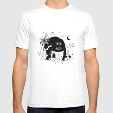 Silent Night Mens Fitted Tee White SMALL
