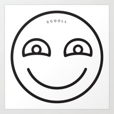 CCOOLL Smiley Art Print