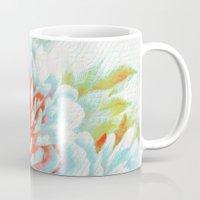 textured floral Mug