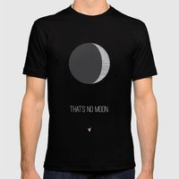 That's No Moon Mens Fitted Tee Black SMALL