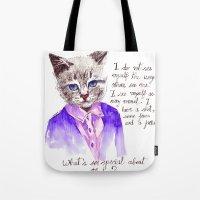 Fashion Mr. Cat Karl Lag… Tote Bag