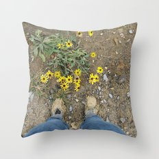 Muddy Boots Throw Pillow