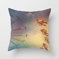 Swinging From The Sun Throw Pillow