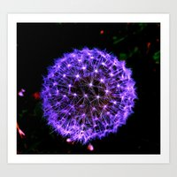 Art Print featuring Purple Spark by morningowl
