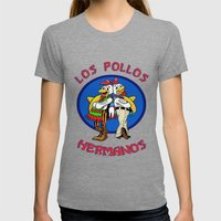 Los Pollos Hermanos. Breaking Bad. Womens Fitted Tee Tri-Grey SMALL