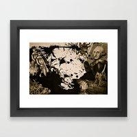 Penser : Combat mental. Framed Art Print