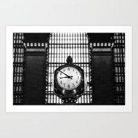 Clock in Grand Central Terminal Art Print