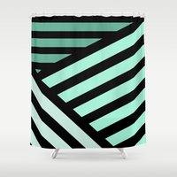 STRIPED {MINT} Shower Curtain