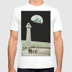 moon Mens Fitted Tee SMALL White