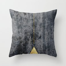 GOld Triangle Throw Pillow