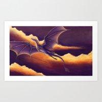 Sunset Dragon Art Print