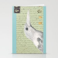 Gray Kingfisher Stationery Cards