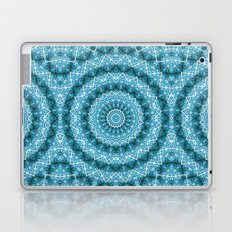 Light Blue Kaleidoscope / Mandala Laptop & iPad Skin