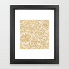 Floral in Yellow Framed Art Print