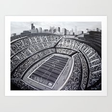 Chicago Bears Soldier Fi… Art Print