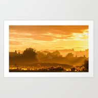 Golden Haze Art Print