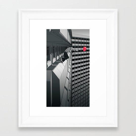 No Second Chance Framed Art Print