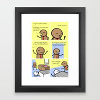 Antics #024 - I suppose I saw that coming Framed Art Print