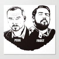 Simon Pegg & Nick Frost Canvas Print